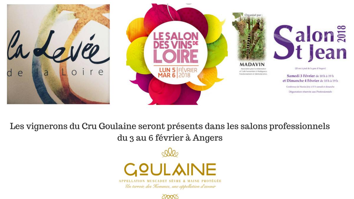 Le Cru Goulaine aux Salons des Vins 2018
